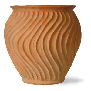 Shimmer Fibreglass Terracotta Finish Pot From potstore.co.uk